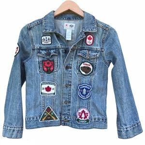 HBC Hudson's Bay Olympic 2012 Jean Jacket Patches